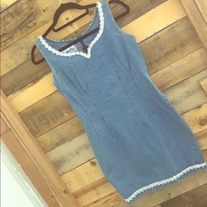 Vintage 90s denim jean mini dress